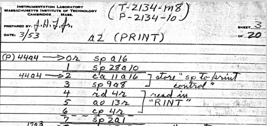 Knuth notes on Print